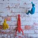Coloured Climbing Men Wall Sculpture