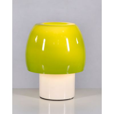 Mushroom Green Glass Table Lamp