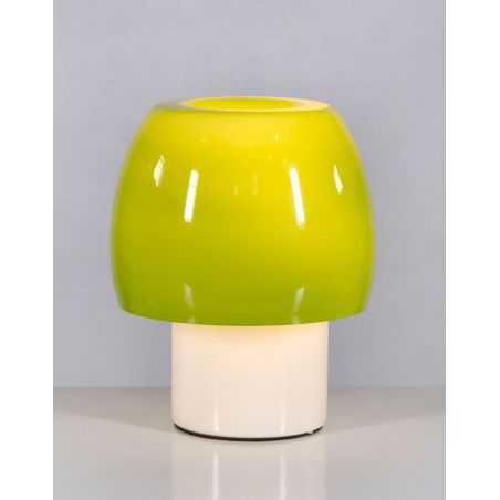 Mushroom Green Glass Table Lamp Retro Lighting Smithers of Stamford £111.25 Store UK, US, EU, AE,BE,CA,DK,FR,DE,IE,IT,MT,NL,N...