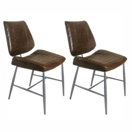 Vegan Leather Dining Chair Industrial Furniture Smithers of Stamford £439.00 Store UK, US, EU, AE,BE,CA,DK,FR,DE,IE,IT,MT,NL,...