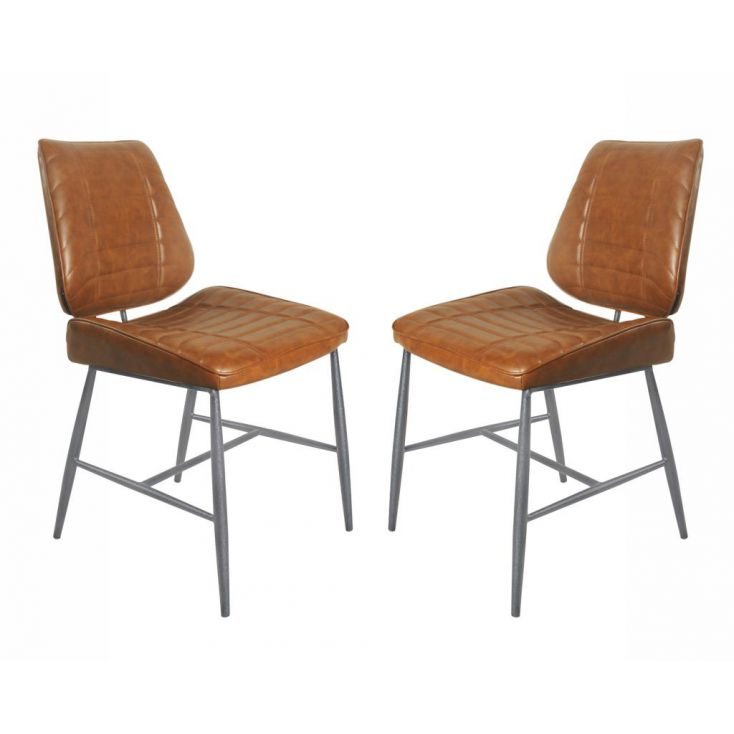 Vegan Leather Dining Chair Industrial Furniture Smithers of Stamford £ 384.00 Store UK, US, EU, AE,BE,CA,DK,FR,DE,IE,IT,MT,NL...