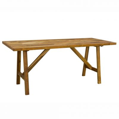 Rustic Dining Table And Bench Set