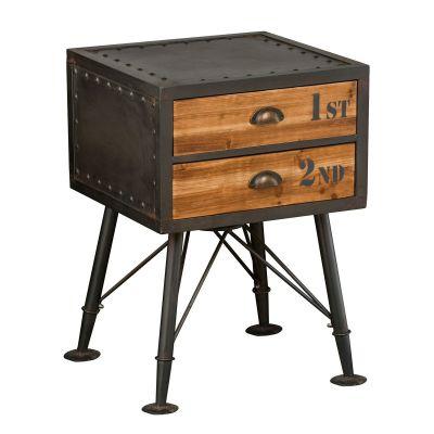 Vintage Helsing Bed Side Cabinet