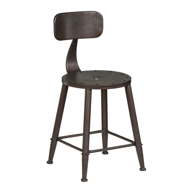Industrial Dining Chair Stools In Black For Cool Retro