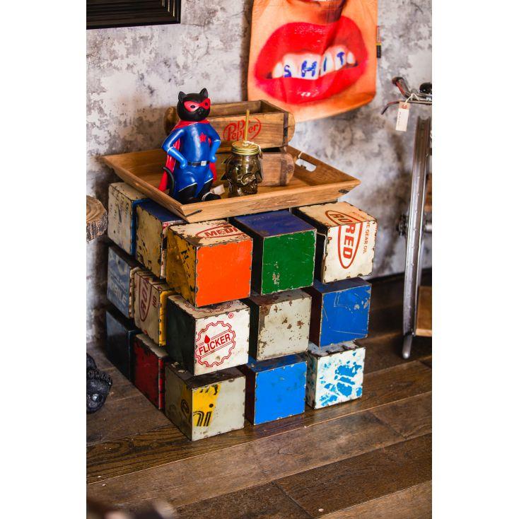Rubik's Cube Drum Table Industrial Furniture £ 708.00 Store UK, US, EU, AE,BE,CA,DK,FR,DE,IE,IT,MT,NL,NO,ES,SE