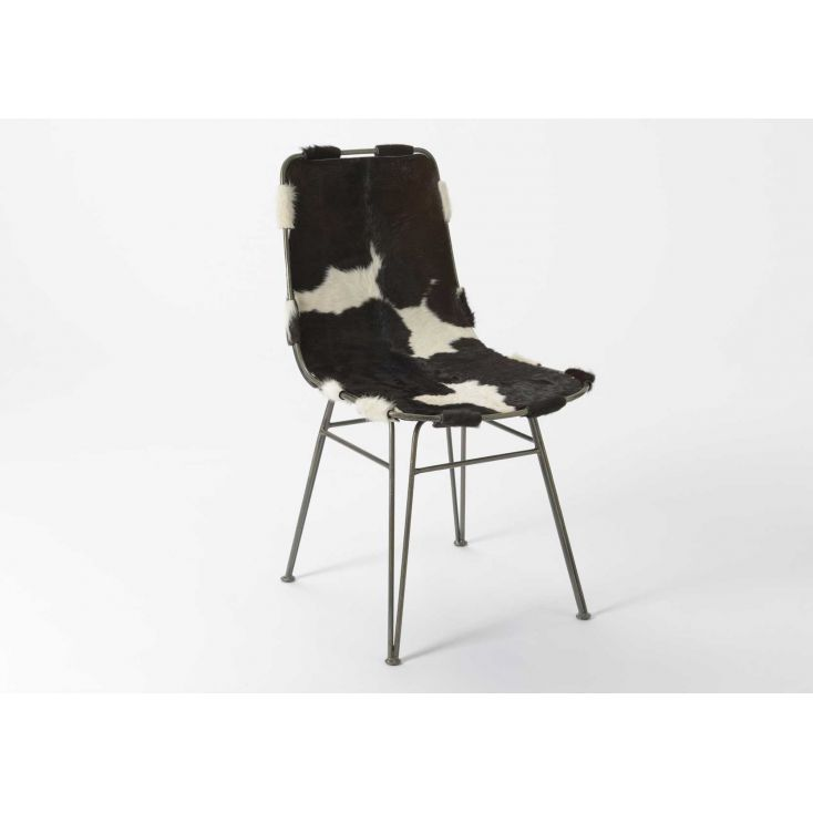 Cowhide Dining Chair Industrial Furniture Smithers of Stamford £ 403.00 Store UK, US, EU, AE,BE,CA,DK,FR,DE,IE,IT,MT,NL,NO,ES,SE
