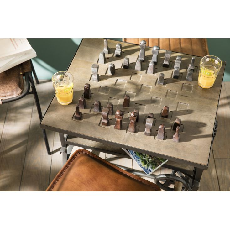 Industrial Chess Table Wind Up Adjustable
