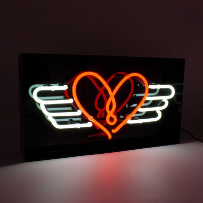 Flying Heart Neon Light