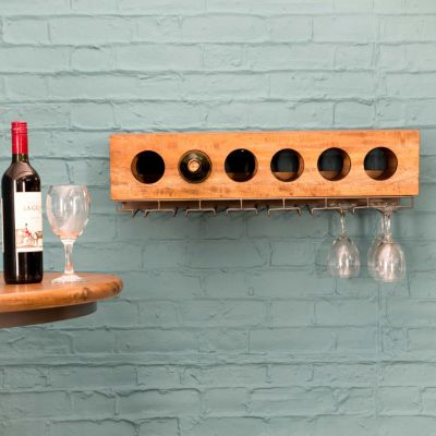 Wall Mounted Wine Bottle Rack