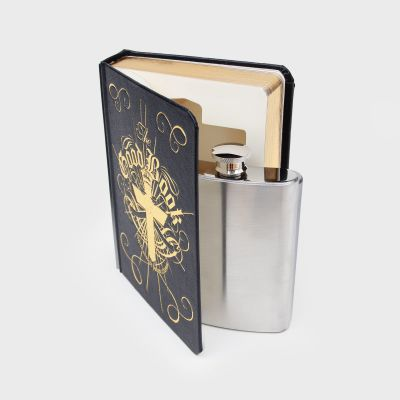The Good Bible Book HipFlask