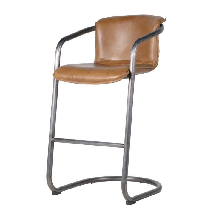 Leather Industrial Bar Stools With Arms Kitchen & Dining Room Smithers of Stamford £ 486.00 Store UK, US, EU, AE,BE,CA,DK,FR,...
