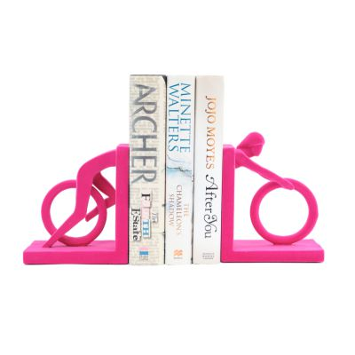 Pink Cycle Bookends