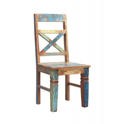 Reclaimed Boat Wood Dining Chairs