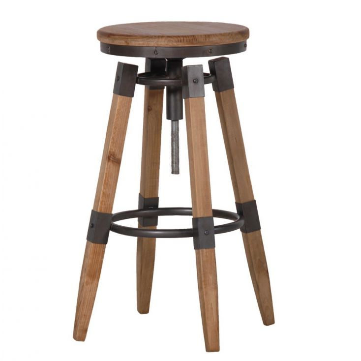 Backless Swivel Counter Stool with Wood Seat Vintage & Industrial Bar Stools Smithers of Stamford £ 169.00 Store UK, US, EU, ...