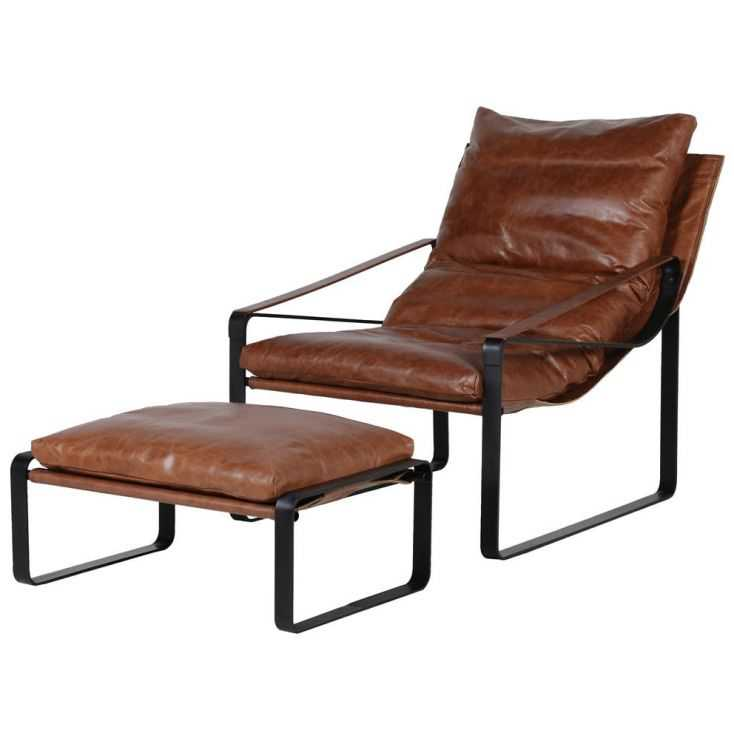 Leather Chair With Footstool Sofas and Armchairs Smithers of Stamford £1,655.00 Store UK, US, EU, AE,BE,CA,DK,FR,DE,IE,IT,MT,...