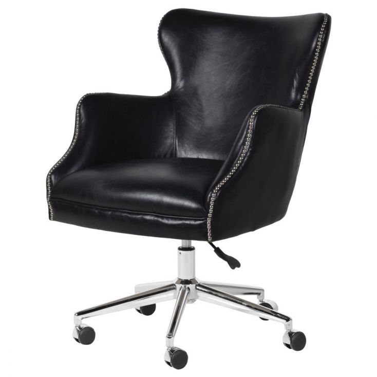 Black Leather Office Chair Vintage Furniture Smithers of Stamford £ 1,053.00 Store UK, US, EU, AE,BE,CA,DK,FR,DE,IE,IT,MT,NL,...