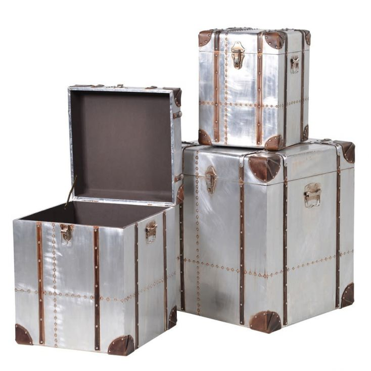 Hawker Industrial Metal Trunks Aviation Furniture Smithers of Stamford £ 400.00 Store UK, US, EU, AE,BE,CA,DK,FR,DE,IE,IT,MT,...