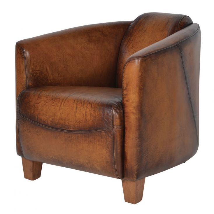 Brown Leather Tub Chair Uk