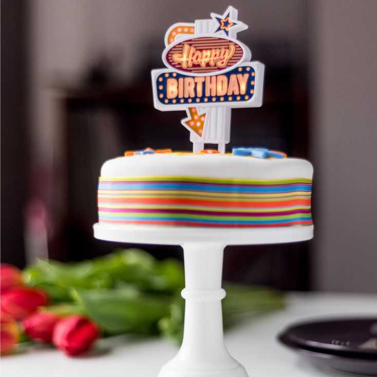 Light Up Birthday Cake Toppers Retro Gifts  £ 7.50 Store UK, US, EU, AE,BE,CA,DK,FR,DE,IE,IT,MT,NL,NO,ES,SE