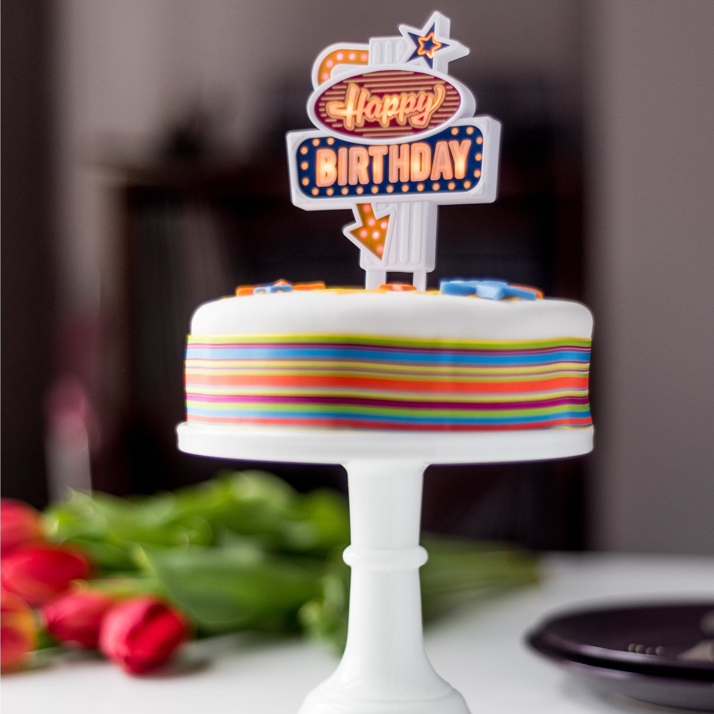 Phenomenal New 2020 Light Up Happy Birthday Cake Toppers Novelty Retro Uk Personalised Birthday Cards Paralily Jamesorg