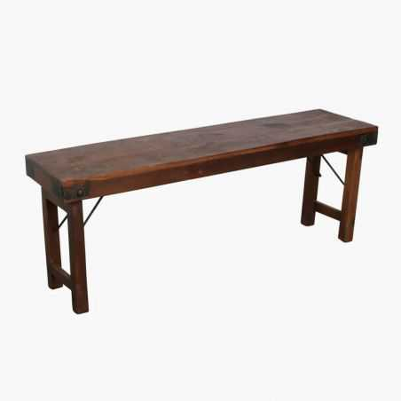Folding Industrial Reclaimed Wood Dining Bench Dining Tables Smithers of Stamford £ 220.00 Store UK, US, EU, AE,BE,CA,DK,FR,D...