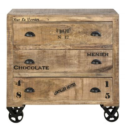 Menier Chocolate Rustic Chest Of Drawers