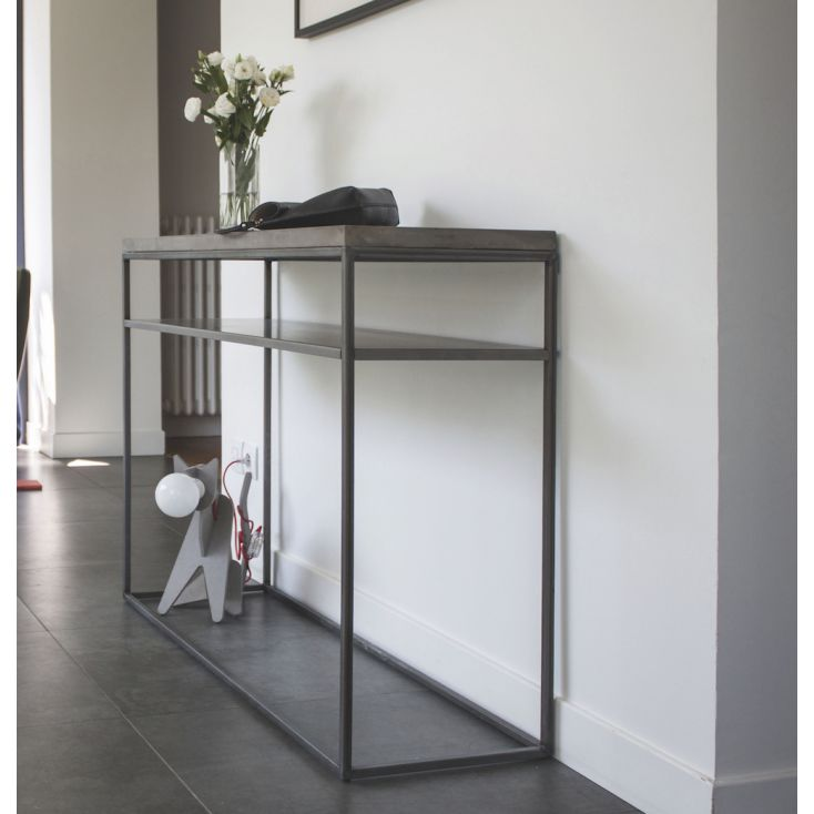 Concrete Console Table Industrial Furniture Smithers of Stamford £ 890.00 Store UK, US, EU, AE,BE,CA,DK,FR,DE,IE,IT,MT,NL,NO,...