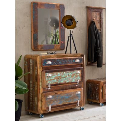 Reclaimed Wooden Shoe Cabinet
