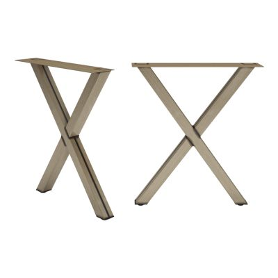 Cross X Frame Table Legs