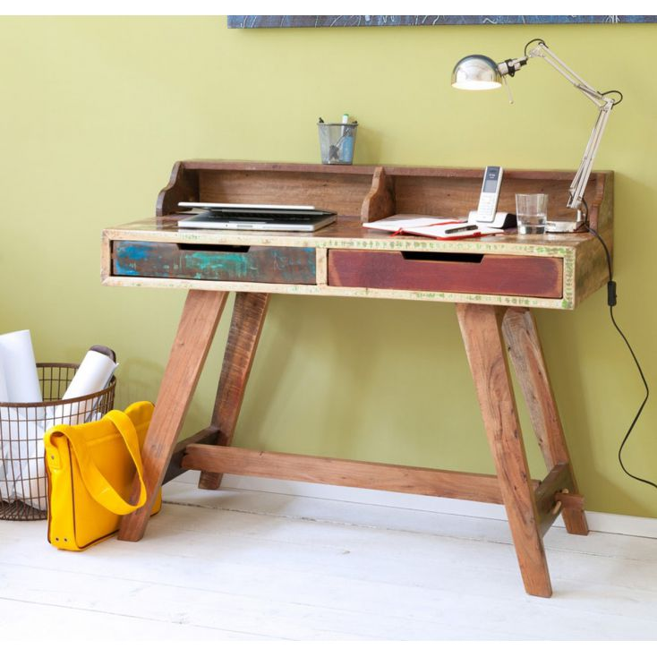 Reclaimed Wood Office Study Desk Office Smithers of Stamford £ 399.00 Store UK, US, EU, AE,BE,CA,DK,FR,DE,IE,IT,MT,NL,NO,ES,SE