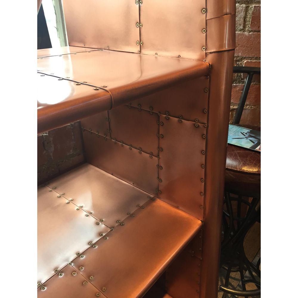 Copper Bookcase Bookshelf Creative Unique