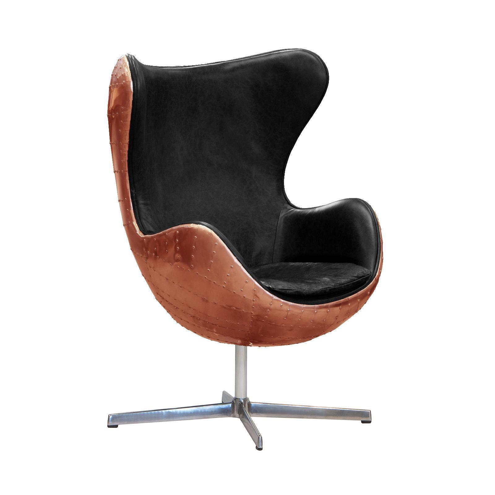 Aviator Designer Retro Copper Egg Chair