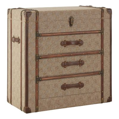 Steamer Brown Trunk Chest Of Drawers
