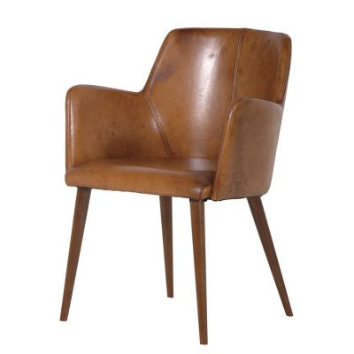 Tan Leather Dining Chairs