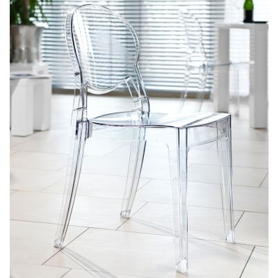 Transparent Ghost Crystal Dining Chair