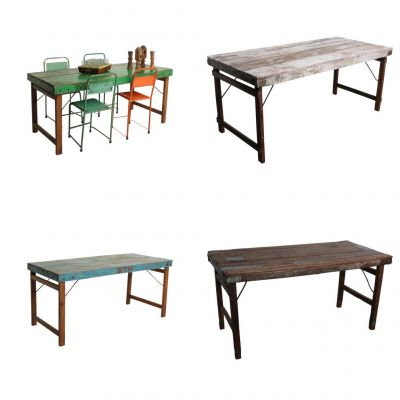 Distressed Reclaimed Wood Dining Tables