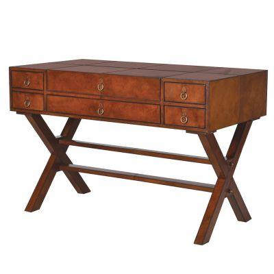 Brown Leather Writing Desk