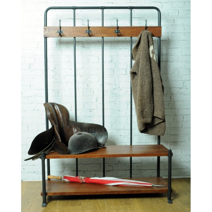 Vintage Entryway Coat Rack And Bench Seat Storage Furniture Smithers of Stamford £ 490.00 Store UK, US, EU