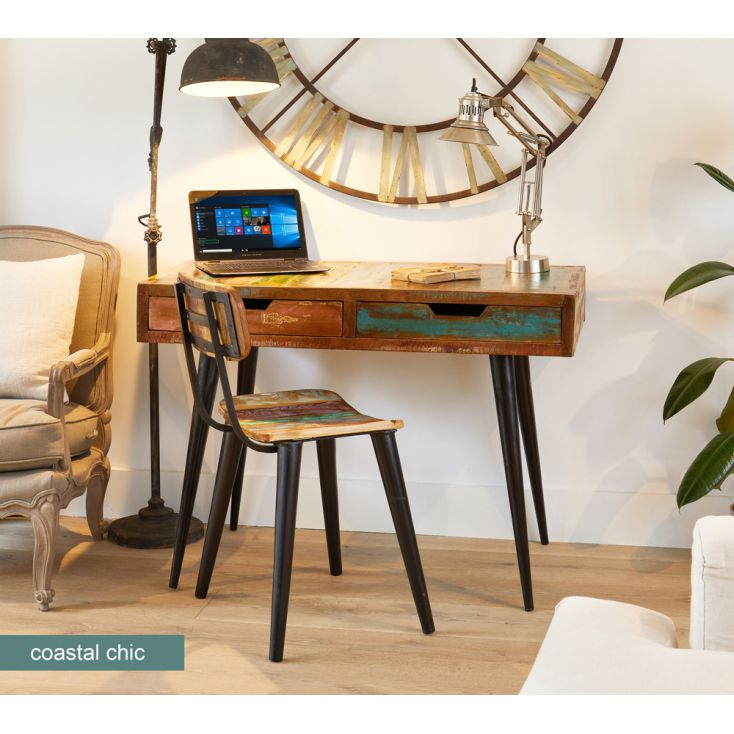 Coastal Reclaimed Wood Desk Office Smithers of Stamford £ 550.00 Store UK, US, EU, AE,BE,CA,DK,FR,DE,IE,IT,MT,NL,NO,ES,SE