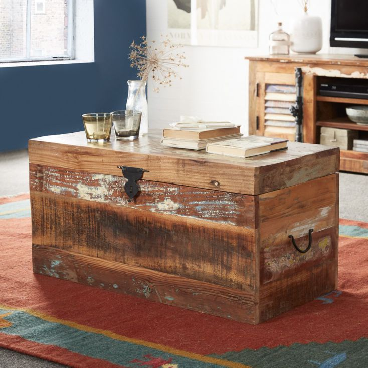 Coastal Trunk Coffee Table Reclaimed Wood Furniture Smithers of Stamford £ 196.00 Store UK, US, EU, AE,BE,CA,DK,FR,DE,IE,IT,M...