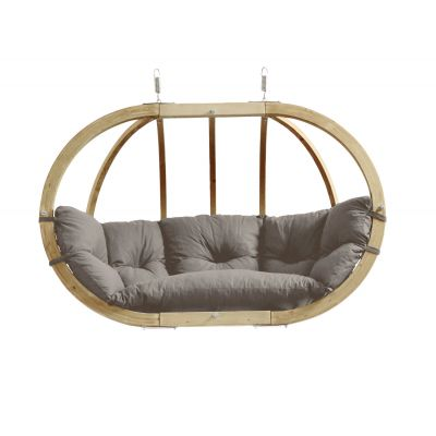 Outdoor Garden Wooden Globe Hanging Chair