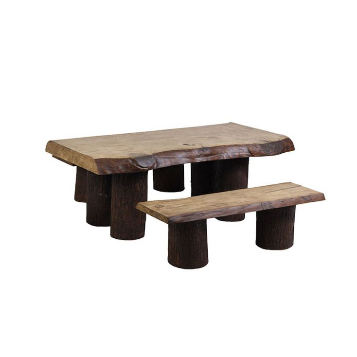 Rustic Garden Table & Bench Set Outdoor Furniture Smithers of Stamford £ 1,325.00 Store UK, US, EU, AE,BE,CA,DK,FR,DE,IE,IT,M...