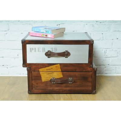 Vintage Time Traveller 2 Drawer Chest