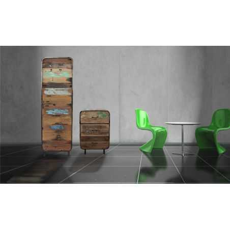 New York Loft Tall Cabinet Reclaimed Wood Furniture Smithers of Stamford £ 1,210.00 Store UK, US, EU, AE,BE,CA,DK,FR,DE,IE,IT...