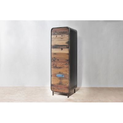 New York Loft Tall Cabinet Reclaimed Wood Furniture Smithers of Stamford 1,100.00 Store UK, US, EU