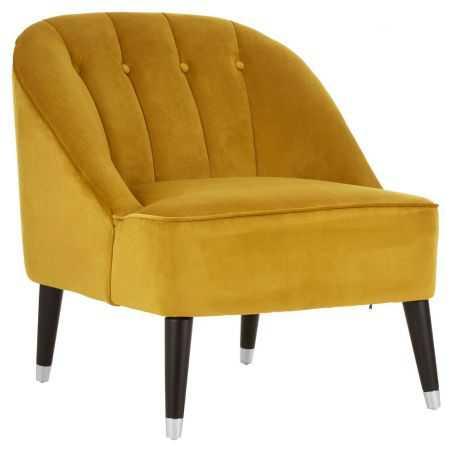 Mustard Velvet Cocktail Chair Designer Furniture  £ 488.00 Store UK, US, EU, AE,BE,CA,DK,FR,DE,IE,IT,MT,NL,NO,ES,SE