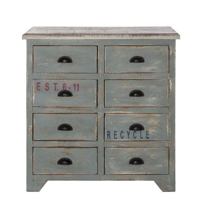 Recycled Blue Chest of Drawers