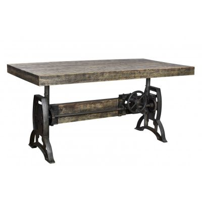 Wind Up Industrial Dining Table