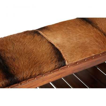 Goats Hide Bench Seat Designer Furniture Smithers of Stamford £ 395.00 Store UK, US, EU, AE,BE,CA,DK,FR,DE,IE,IT,MT,NL,NO,ES,SE