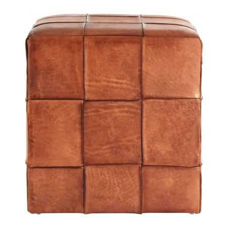 Leather Cube Stool Footstools Smithers of Stamford £243.00 Store UK, US, EU, AE,BE,CA,DK,FR,DE,IE,IT,MT,NL,NO,ES,SE
